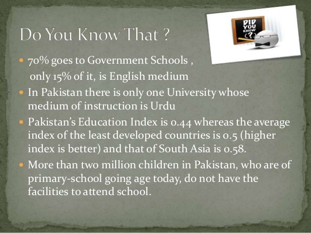 A case for English in Pakistan