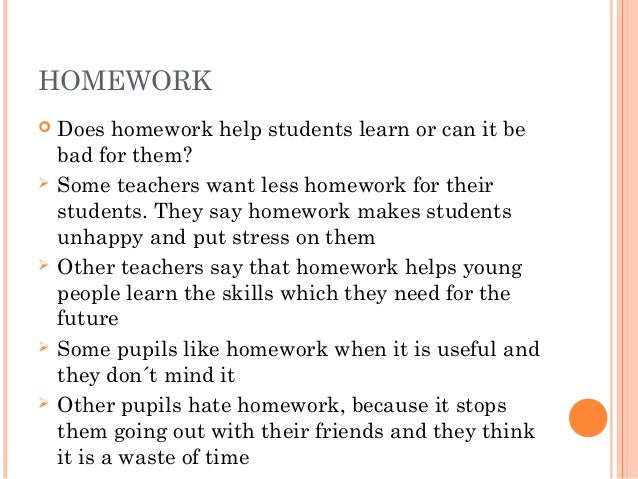 Does homework help learning