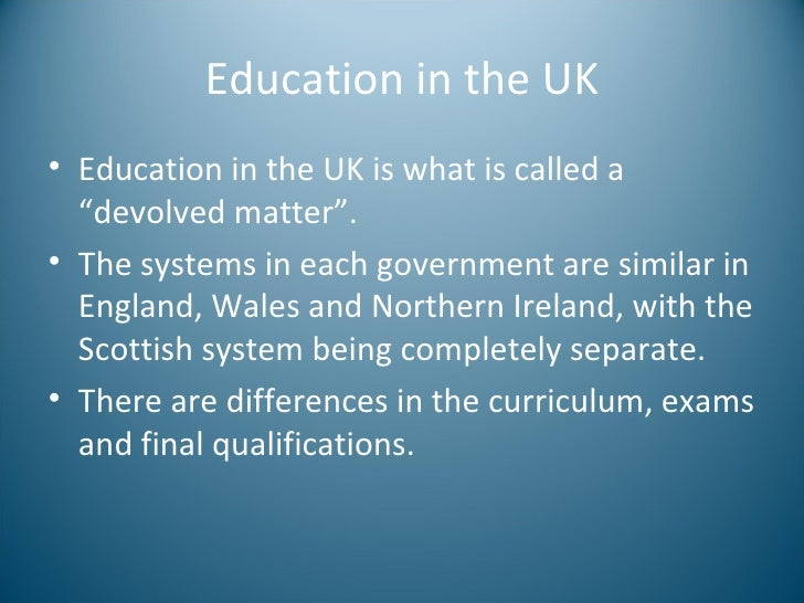 a research on the education system of the united kingdom Masters in the united kingdom  to find out more about the uk higher education system,  impact measures the effect of research outside the academy,.