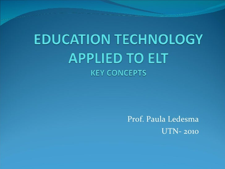 Prof. Paula Ledesma UTN- 2010
