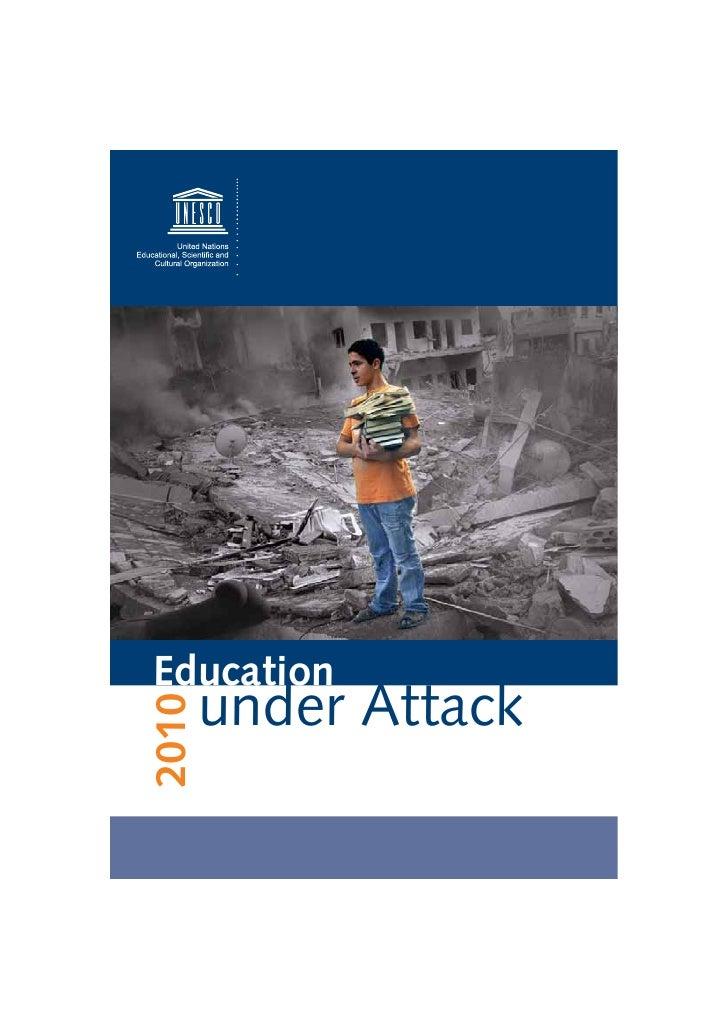 Education Under Attack Unesco Terror Report 2010