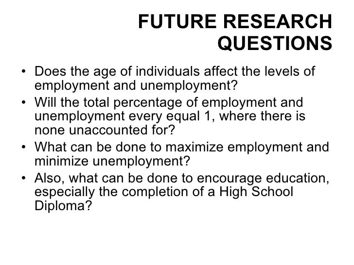 educated unemployment questionnaire Dominating in scientific literature position is that the level of education has direct influence to the unemployment level and this influence is as high as up to five times lower unemployment rate for professional degree holders than the workers having no high school diploma.