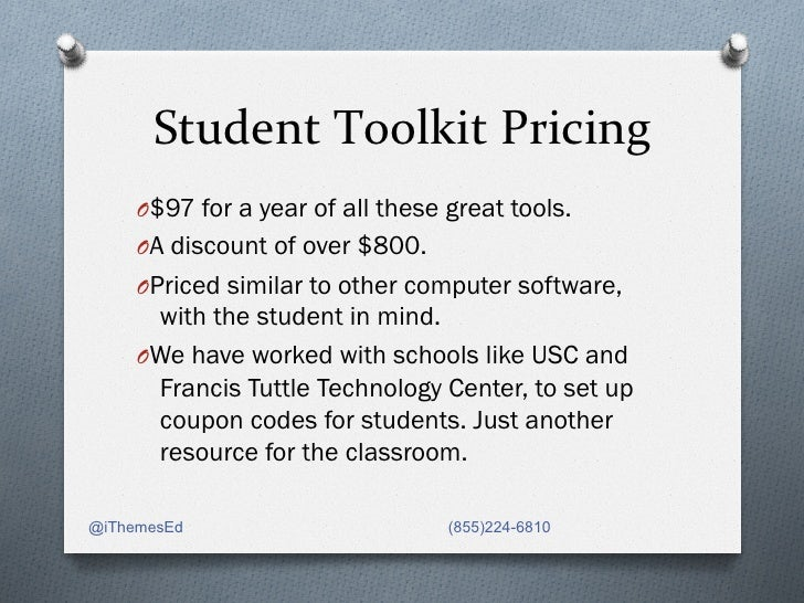 Student Toolkit Pricing                         O$97 for a year of all these great tools.     OA discount of ove...