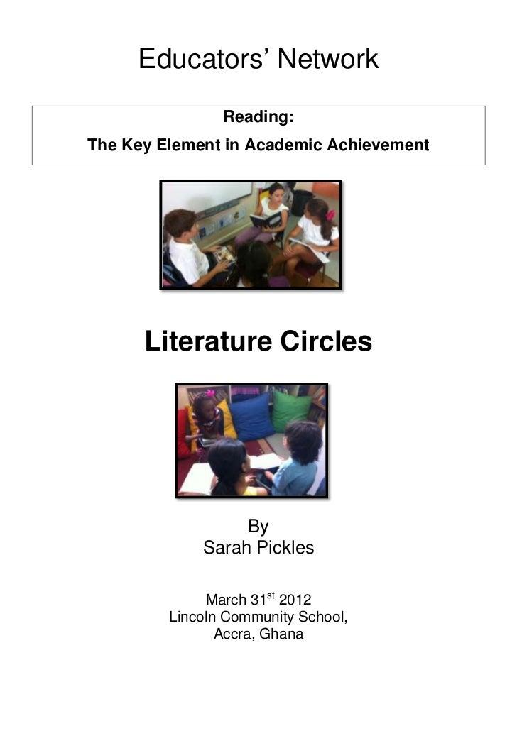 "Educators"" Network                Reading:The Key Element in Academic Achievement      Literature Circles                 ..."