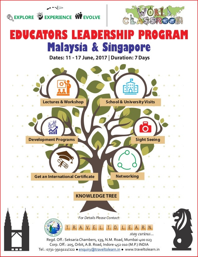 Lectures Workshop Development Programs Get an International Certificate KNOWLEDGE TREE Networking Sight Seeing School Unive...