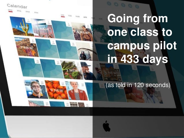 pr publications Going from one class to campus pilot in 433 days (as told in 120 seconds)