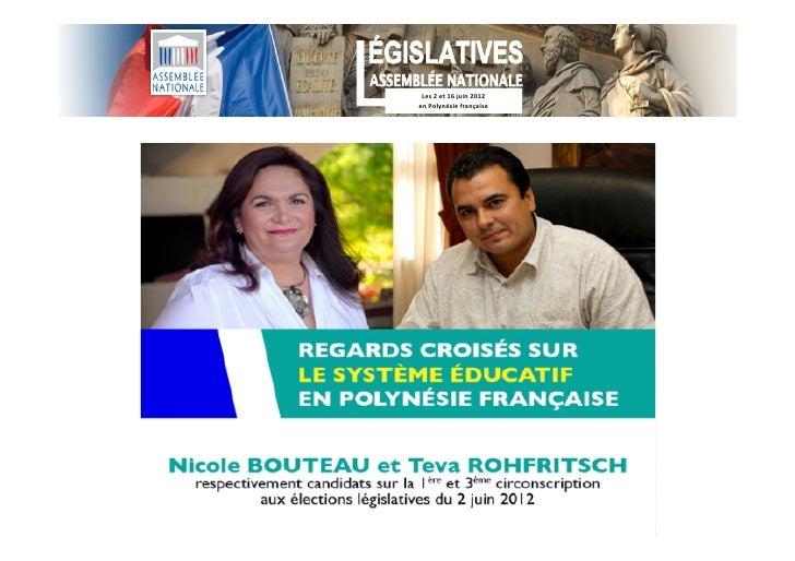 Les 2 et 16 juin 2012 en Polynésie française
