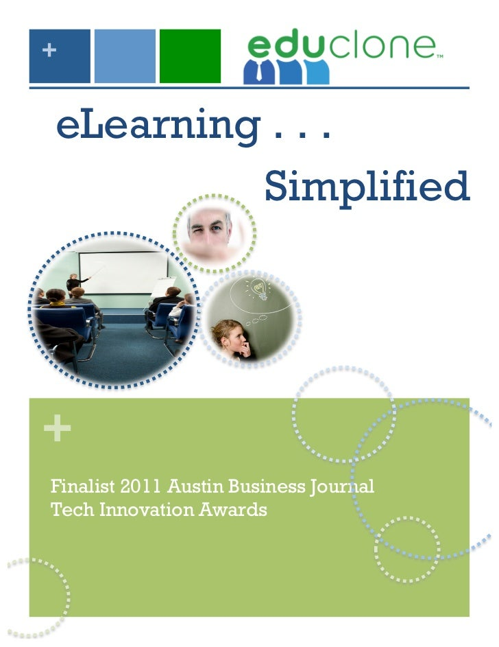 +eLearning . . .         Simplified+Finalist 2011 Austin Business JournalTech Innovation Awards