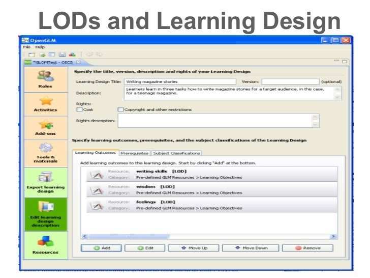 LODs and Learning Design