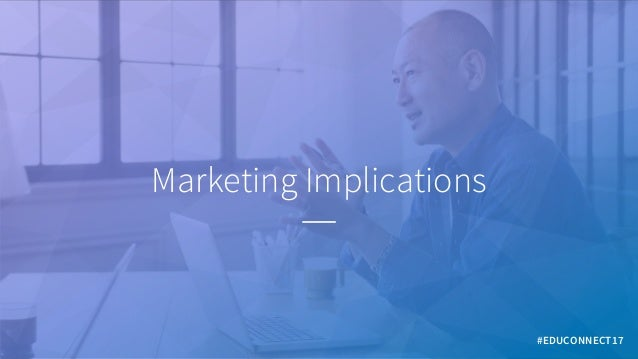 Marketing Implications #EDUCONNECT17