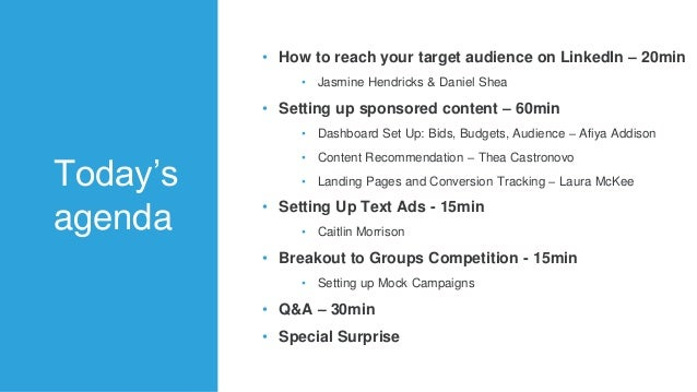 LinkedIn Ads Platform Master Class Slide 3