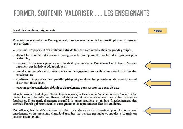FORMER, SOUTENIR, VALORISER … LES ENSEIGNANTS 1993