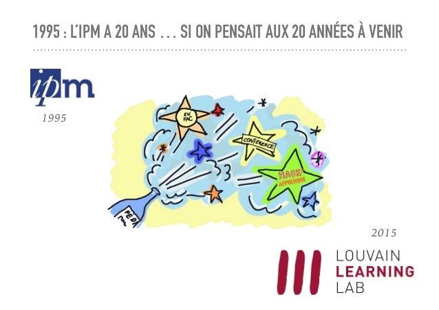 1995 : L'IPM A 20 ANS … SI ON PENSAIT AUX 20 ANNÉES À VENIR 1995 2015