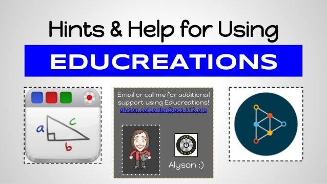 Educreations Hints & Help for ACS Teachers