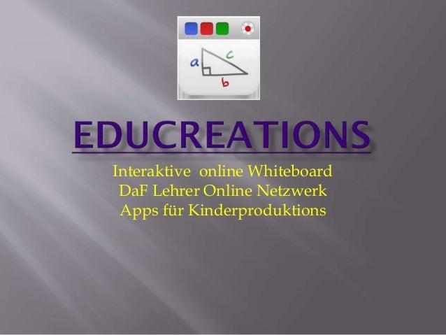 Interaktive online Whiteboard DaF Lehrer Online Netzwerk Apps für Kinderproduktions
