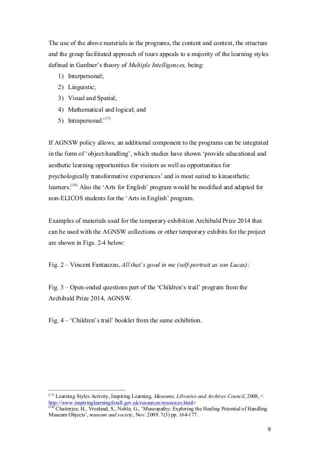 9 The use of the above materials in the programs, the content and context, the structure and the group facilitated approac...