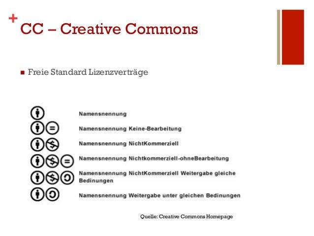 +    CC – Creative Commons    n   Freie Standard Lizenzverträge                                     Quelle: Creative Com...