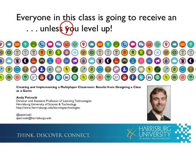 Everyone in this class is going to receive an . . . unless you level up!F Creating and Implementing a Multiplayer Classroo...