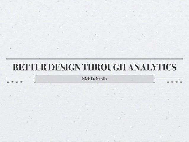 Better Design Through Analytics - #eduiconf 2010