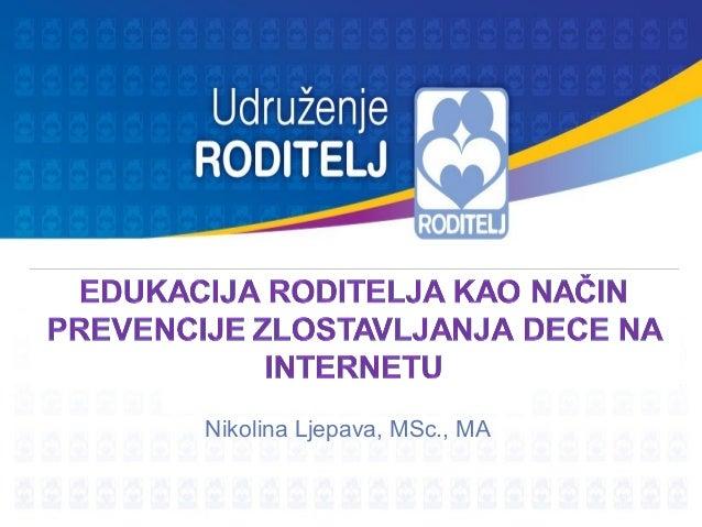 Nikolina Ljepava, MSc., MA