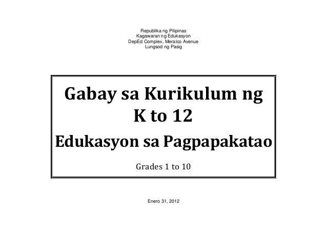 Republika ng PilipinasKagawaran ng EdukasyonDepEd Complex, Meralco AvenueLungsod ng PasigGabay sa Kurikulum ngK to 12Eduka...