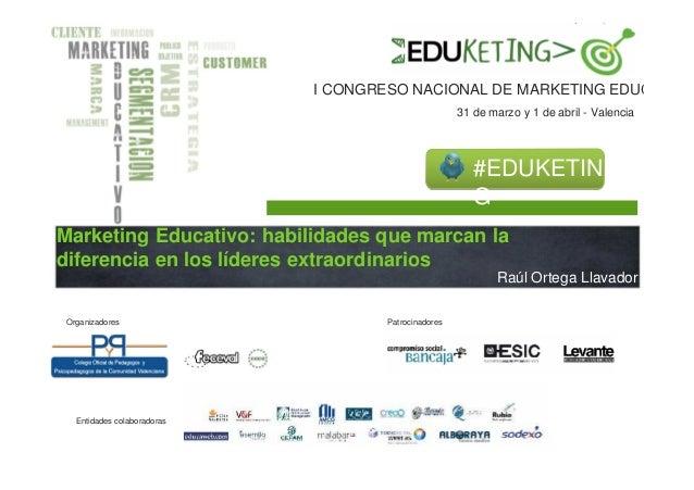 I CONGRESO NACIONAL DE MARKETING EDUCATIVO                                                      31 de marzo y 1 de abril -...