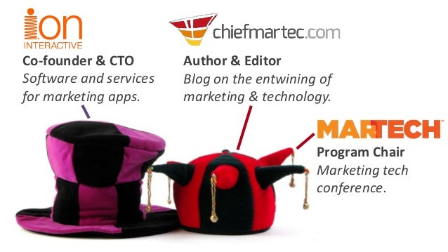 Co-founder & CTO  Software and servicesfor marketing apps.  Author & Editor  Blog on the entwining of marketing & technolo...