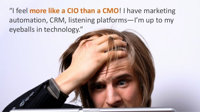 TheKing Solomon approach to dividing marketing technology.  The CIOgets the technology half.  The CMO gets the marketing h...
