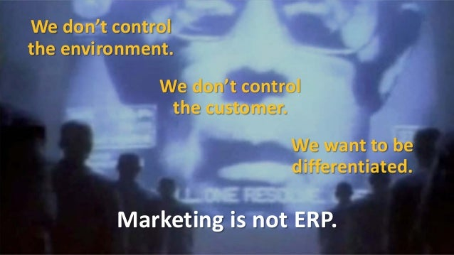 Not everyone in marketingneeds to be a technologist.  Just as not everyonein marketingneededto be acreative.