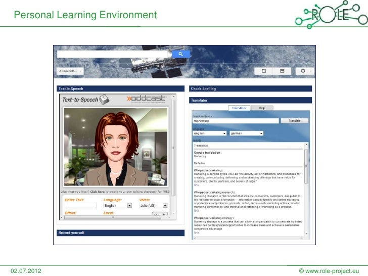Personal Learning Environment02.07.2012                      © www.role-project.eu