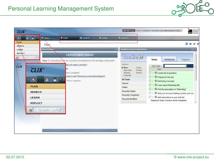 Personal Learning Management System02.07.2012                            © www.role-project.eu