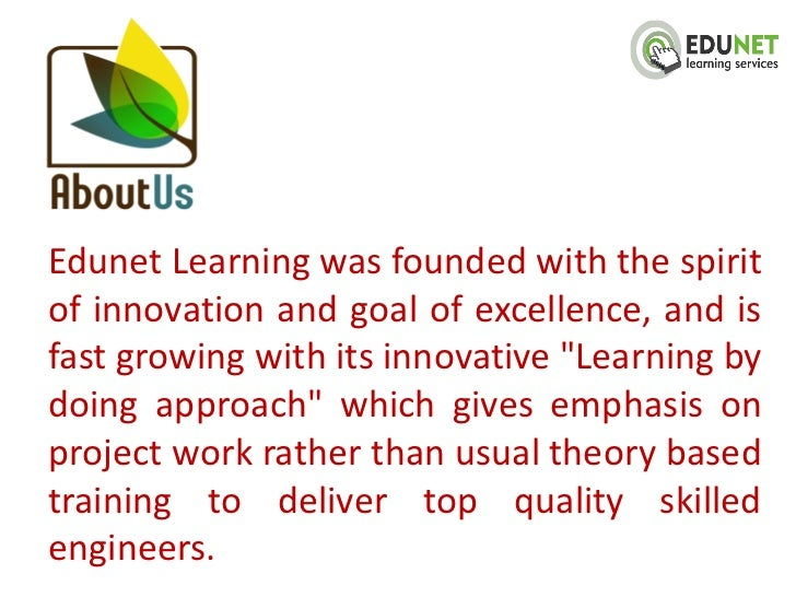 """Edunet Learning was founded with the spiritof innovation and goal of excellence, and isfast growing with its innovative """"L..."""