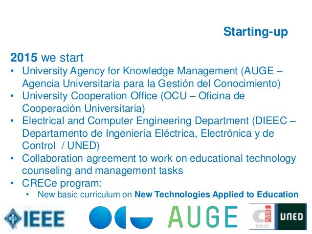 Education and new technologies a proposal from auge to the world - Oficina ocu madrid ...