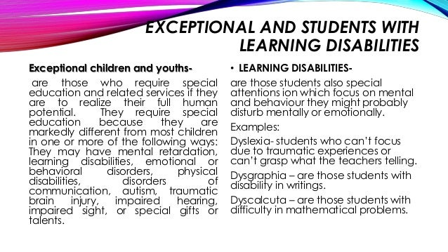 EDUCATIONAL PSYCHOLOGY TEACHING EXCEPTIONAL LEARNERS - BY ...