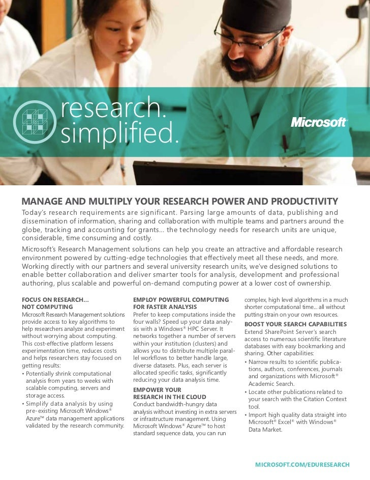 research.              simplified.MANAGE AND MULTIPLY YOUR RESEARCH POWER AND PRODUCTIVITYToday's research requirements ar...
