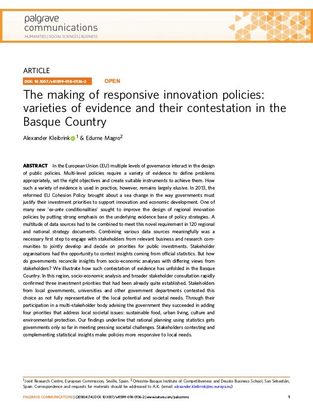The making of responsive innovation policies: varieties of evidence a…