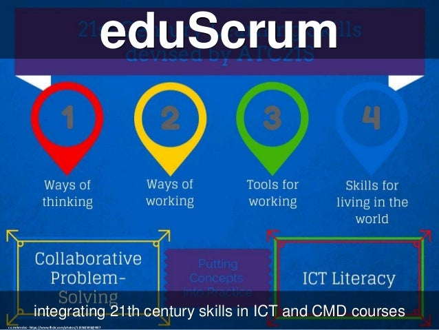 eduScrum integrating 21th century skills in ICT and CMD courses cc: mrkrndvs - https://www.flickr.com/photos/113562593@N07
