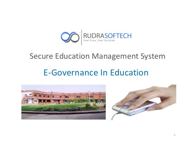 Secure Education Management System 1 E-Governance In Education