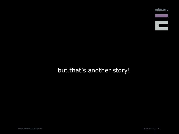 <ul><li>but that's another story! </li></ul>