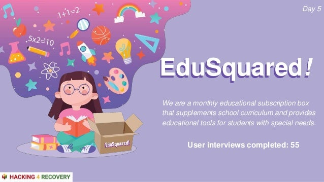 We are a monthly educational subscription box that supplements school curriculum and provides educational tools for studen...