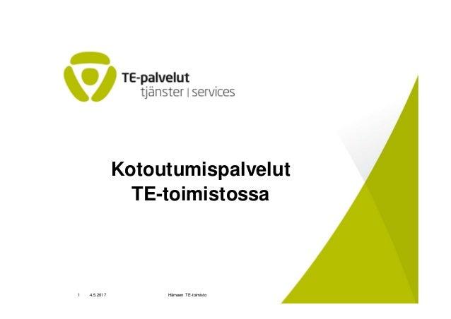 Raija Timonen ja Timo Mustonen, TE-toimisto, Hämeenlinna
