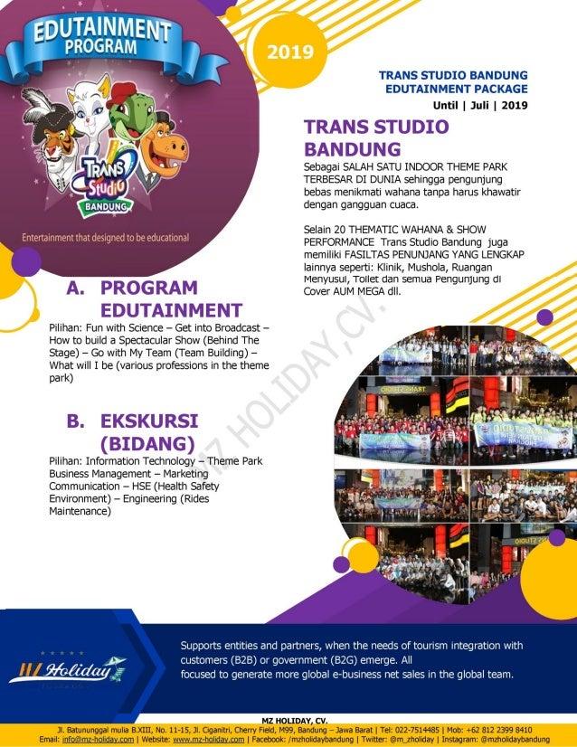 edutainmnet package 2019 trans studio bandung rh slideshare net