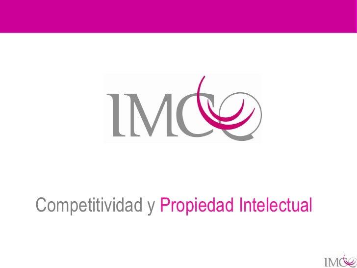 Competitividad y Propiedad Intelectual