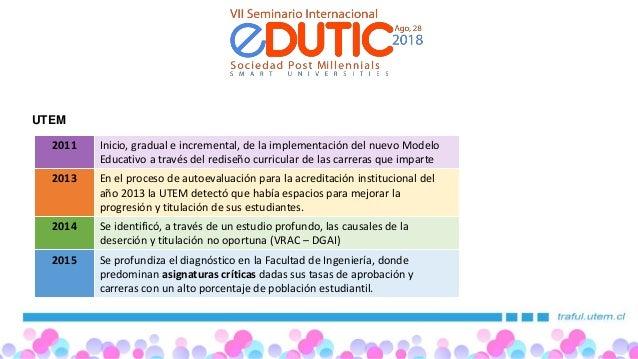 Edutic 2018 Universidad Tecnológica Metropolitana(UTEM) Slide 2