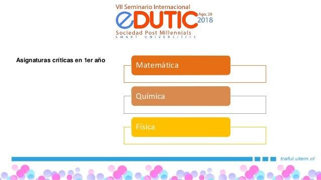 Edutic 2018 Universidad Tecnológica Metropolitana(UTEM) Slide 3