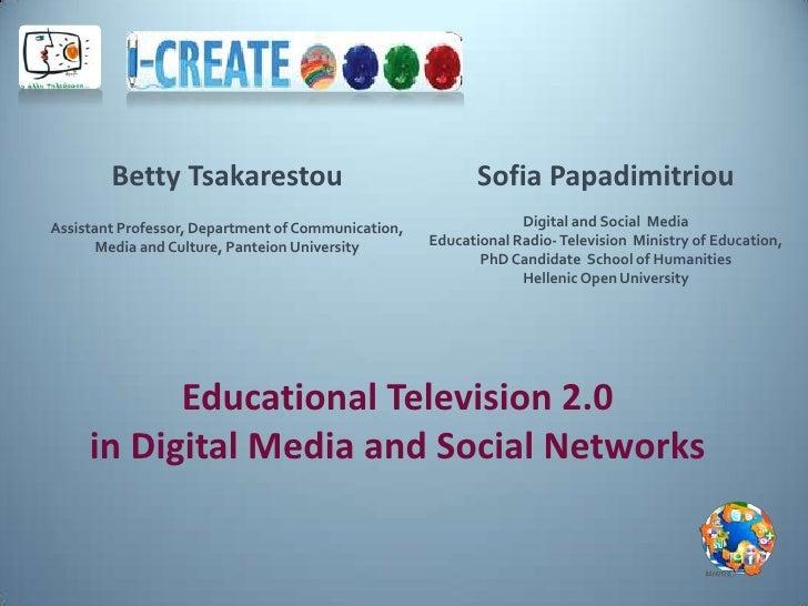 Betty Tsakarestou                                  Sofia PapadimitriouAssistant Professor, Department of Communication,   ...