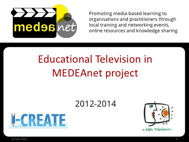 Promoting media-based learning to                          organisations and practitioners through                        ...