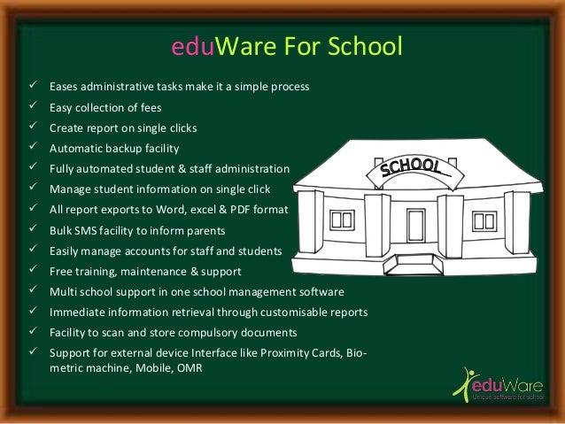 Technology Management Image: EduWare Unique System For School Management Ppt