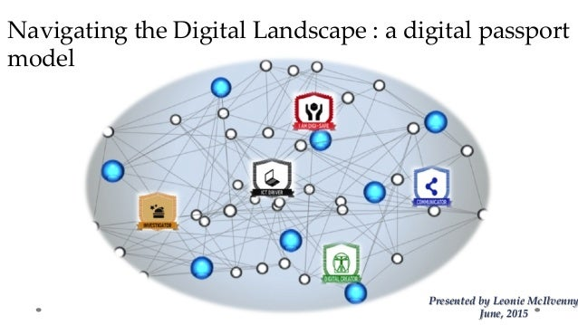Navigating  the  Digital  Landscape  :  a  digital  passport   model	 Presented  by  Leonie  McIlvenny June,  2015