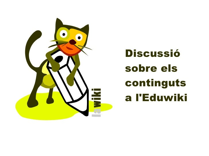 Discussiósobre elscontingutsa lEduwiki